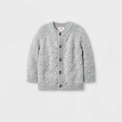 Baby Bobble Sweater Cardigan - Cat & Jack™ Gray