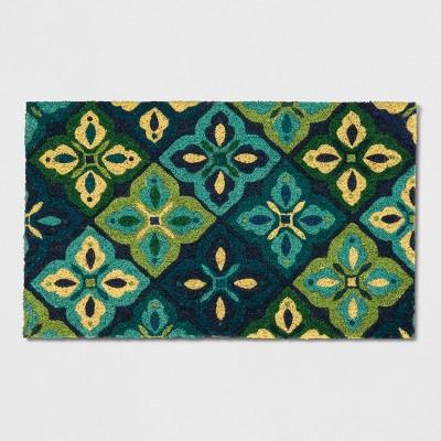 Blue Floral Doormat 1'6 X2'6  - Threshold™
