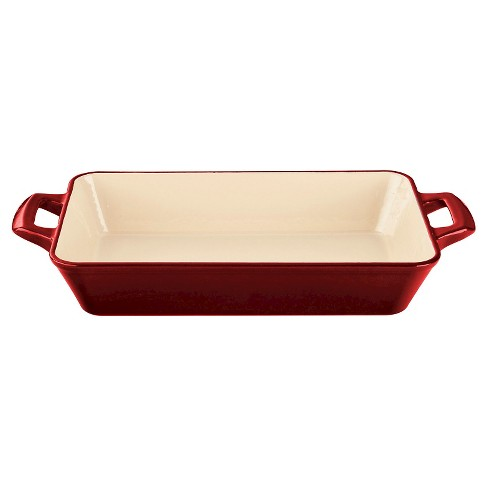 La Cuisine LC 8200 Small Deep Cast Iron Roasting Pan - Red - image 1 of 1