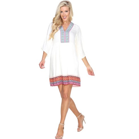 Women's Gabrielle Embroidered Dress - White Mark - image 1 of 3