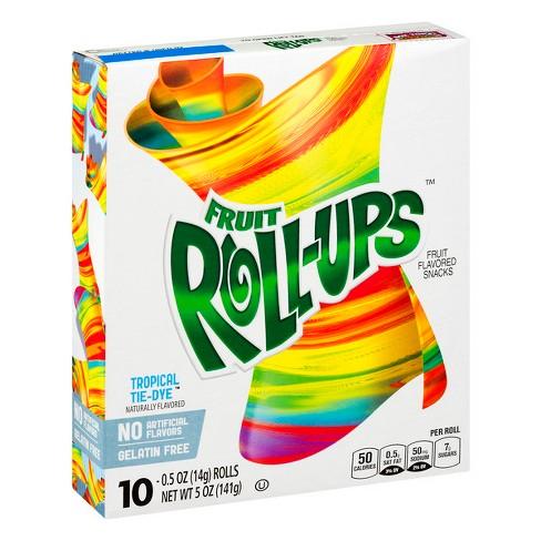 Betty Crocker Fruit Roll-Ups Tropical Tie-Dye Snacks - 10ct - image 1 of 3