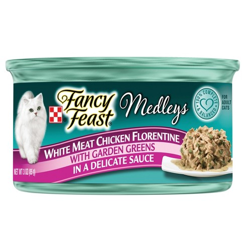 Purina® Fancy Feast Elegant Medleys White Meat Chicken Florentine Wet Cat Food - 3oz can - image 1 of 3
