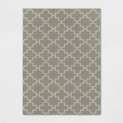 7'X10' Indoor/Outdoor Quatrefoil Design Tufted Area Rug Gray - Threshold™
