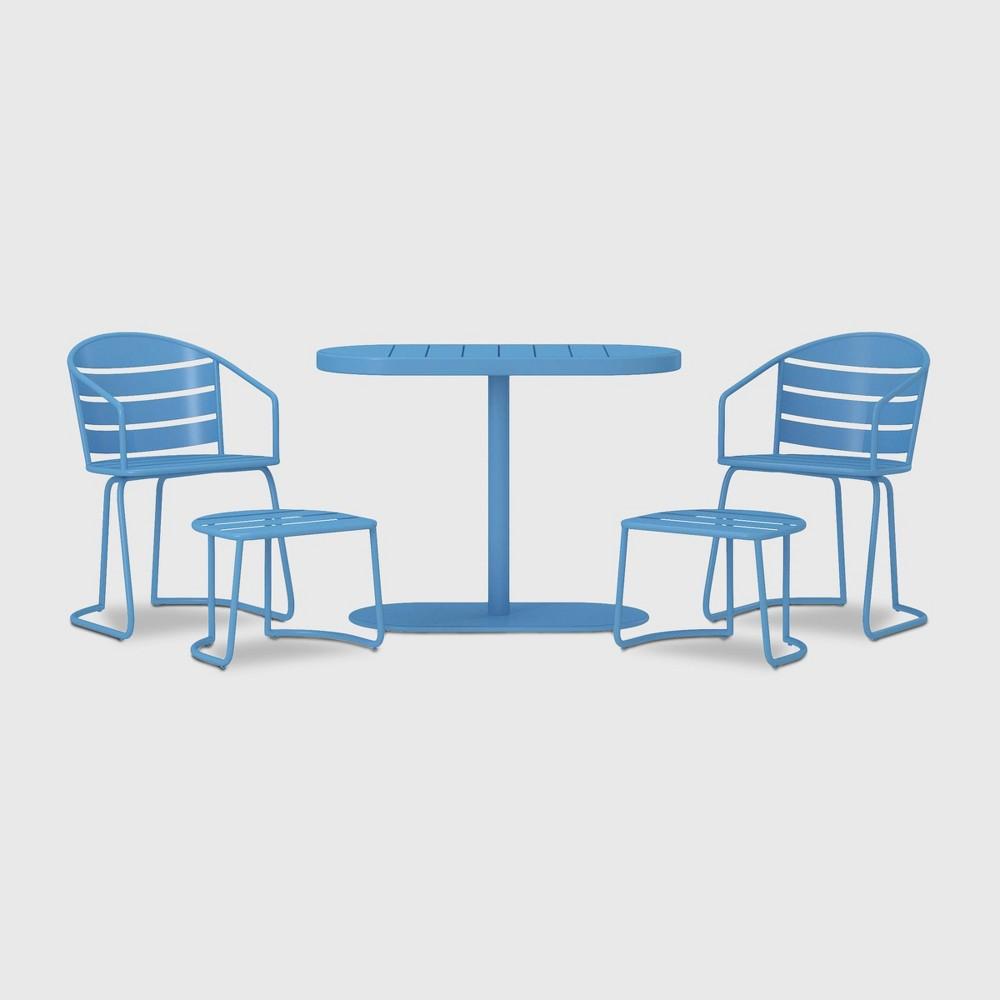 5ct Steel Patio Bistro Set - Turquoise - Cosco