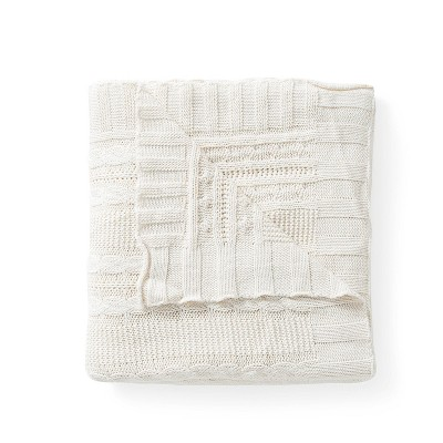 "50""x70"" Dublin Cable Knit Throw Blanket - VCNY"