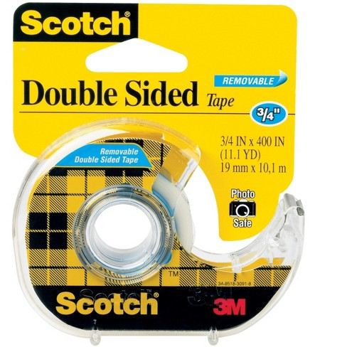 Scotch 665 Removable Double-Sided Tape, 0.75 x 400 Inches, Clear - image 1 of 1