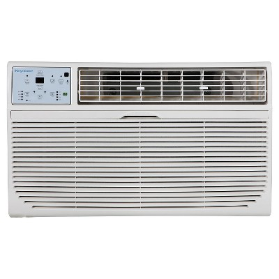 Keystone - 12000-BTU 230V Through-the-Wall Air Conditioner with  Follow Me  LCD Remote Control - White