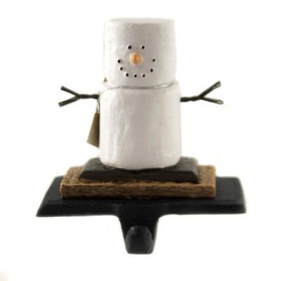 "Christmas 3.5"" Smores Stocking Holder Marshmallows Snowman  -  Stocking Holders"