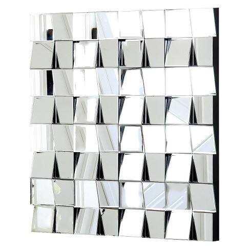 Audrina Square Decorative Wall Mirror Silver - Abbyson Living - image 1 of 4
