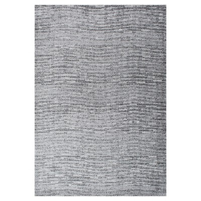 Sterling Gray Solid Loomed Area Rug - (4'x6')- nuLOOM