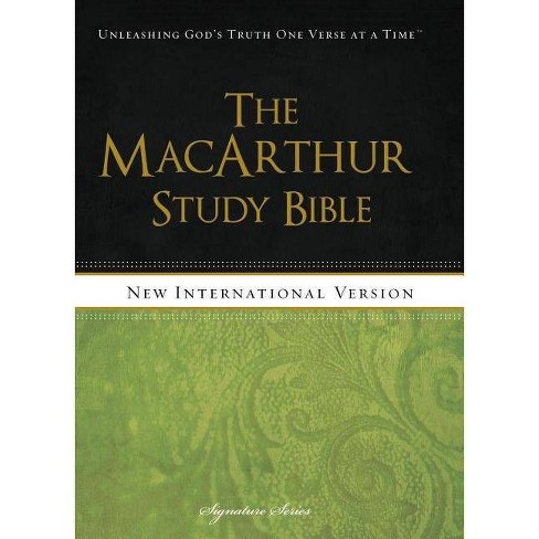 MacArthur Study Bible-NIV-Signature Series - by  Thomas Nelson (Hardcover) - image 1 of 1