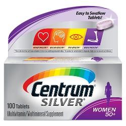 Centrum Silver Women Multivitamin / Multimineral Dietary Supplement Tablets - 100ct