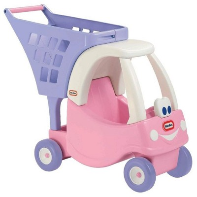 Little Tikes Princess Cozy Coupe Kids Pretend Play Grocery Shopping Cart, Pink