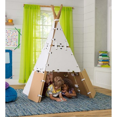 HearthSong - Build-A-Fort Kit Construction Play Space with Cardboard Panels