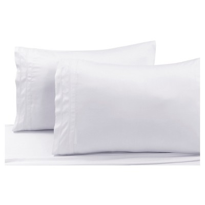 Rayon from Bamboo Solid Pillowcase Pair (King)White 300 Thread Count - Tribeca Living