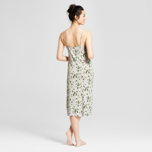 Women s Total Comfort Mid Length Nightgown - Gilligan   O Malley™ Gray  Floral   Target dc39815f6