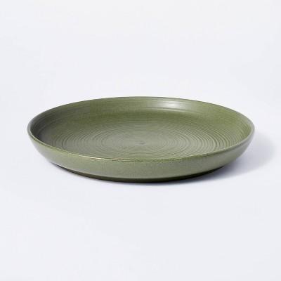 "12"" Stoneware Round Serving Platter Green - Threshold™ designed with Studio McGee"