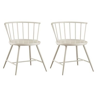 Set of 2 Norfolk Low Windor Dining Chair Wood/White - Homelegance