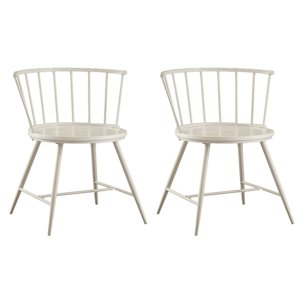 Image of Set of 2 Norfolk Low Windor Dining Chair Wood/White - Homelegance