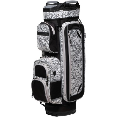 Glove It Women's Signature Untamed Golf Cart Bag with Strap, Black