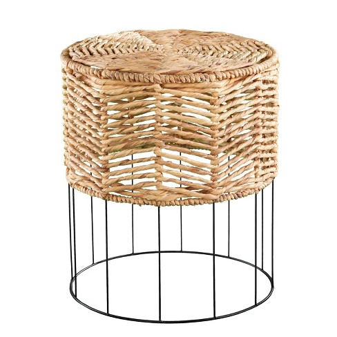 Corto Water Hyacinth Accent Table Natural - Holly & Martin - image 1 of 4