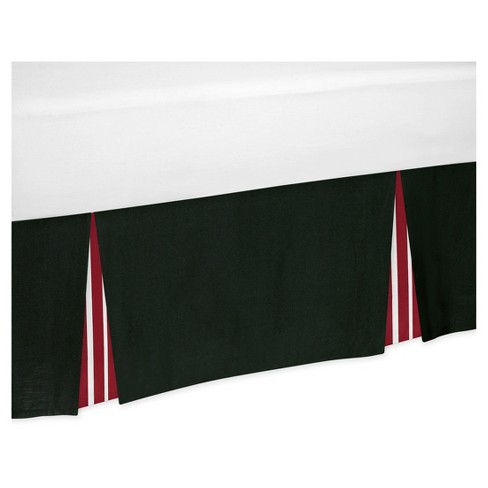 Red Black Bed Skirt Sweet Jojo Designs Target