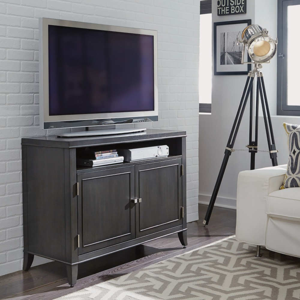 Image of 5Th Avenue Entertainment Stand - Grey Sable - Home Styles, Gray