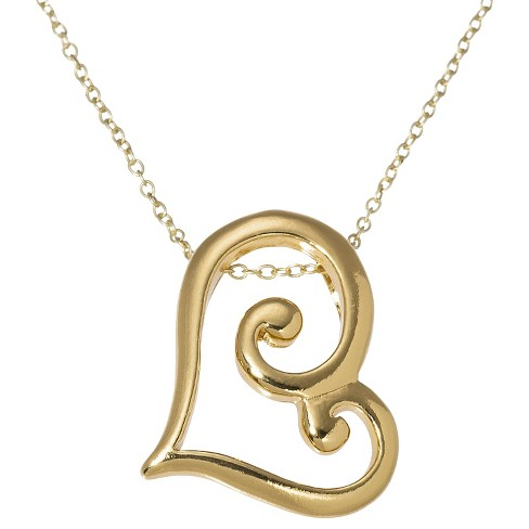 Heart Pendant Necklace - Gold - image 1 of 2