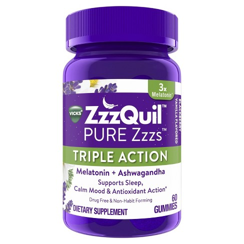 ZzzQuil PURE Zzzs Triple Action Gummy Melatonin Sleep-Aid - image 1 of 4