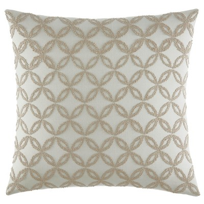 Billie Embroidered Throw Pillow Beige - Stone Cottage