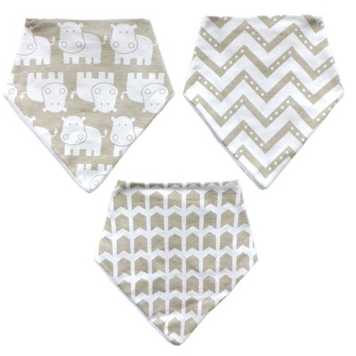 Neat Solutions 3pk Bandana Bib Set - Gray