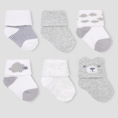 Baby Boys' 6pk Socks - Just One You® made by carter's 0-3M