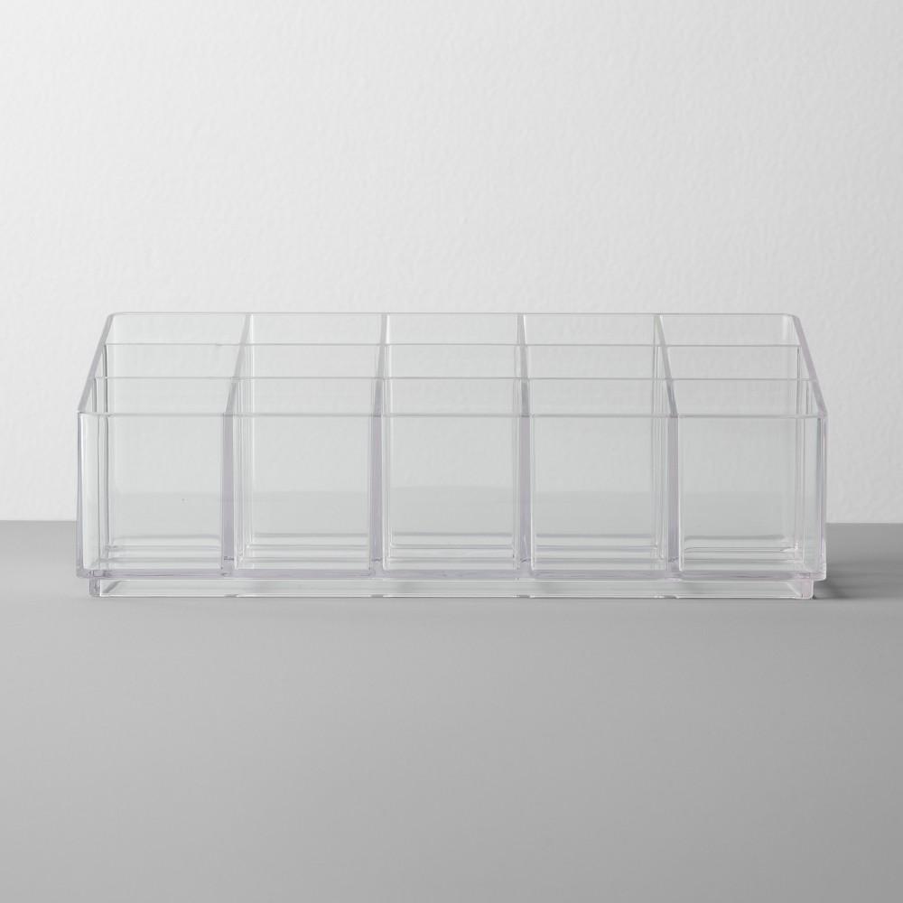 Image of Bathroom Plastic Nail Polish Organizer Clear - Made By Design