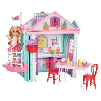 Barbie Club Chelsea Doll and Playhouse