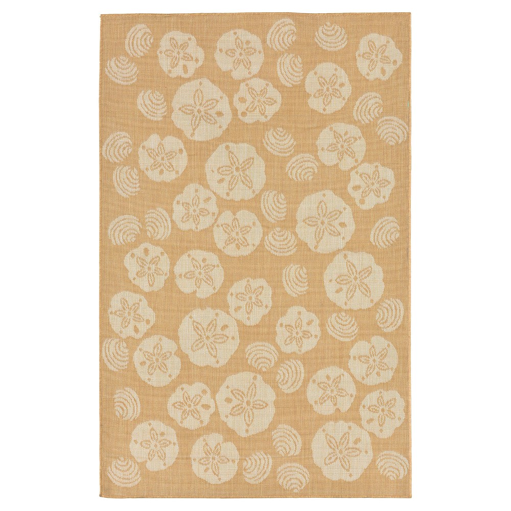Camel Woven Square Area Rug - (7'10