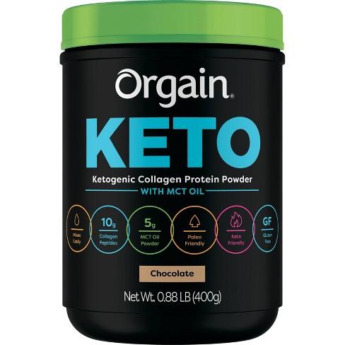 Orgain Keto Collagen Protein Powder - Chocolate - 14.08oz - image 1 of 4