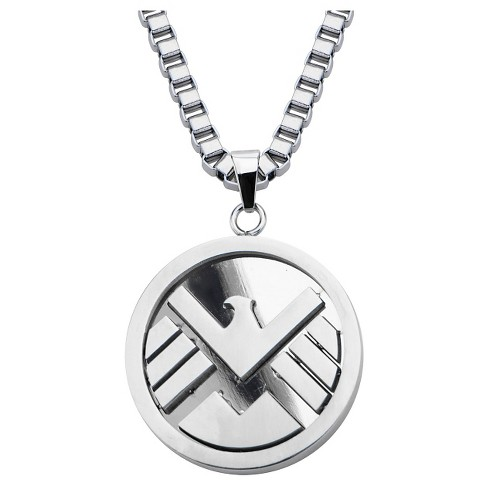 "Marvel® Agents of S.H.I.E.L.D Logo Stainless Steel Pendant with Chain (24"") - image 1 of 2"