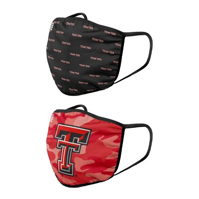 NCAA Texas Tech Red Raiders Adult Face Covering 2pk
