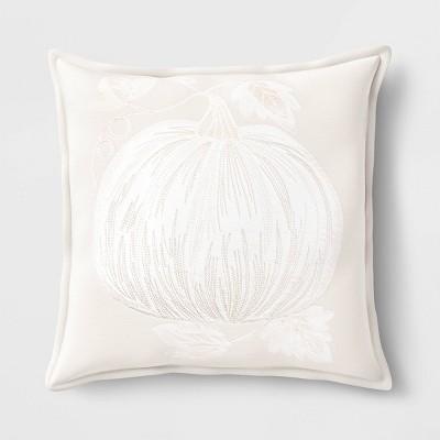 Square Washed Pumpkin Throw Pillow Cream - Threshold™