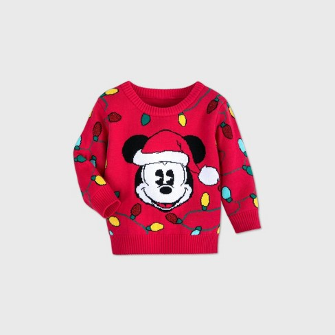 Baby Boys' Disney Mickey Mouse & Friends Sweater - Red - Disney Store - image 1 of 2