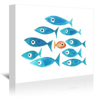 Americanflat Fish Cluster 1 by T.J. Heiser Wrapped Canvas