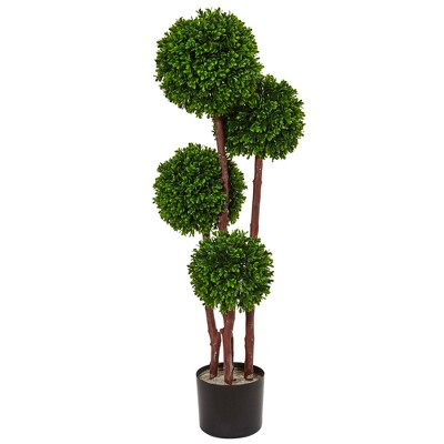 3ft Boxwood Topiary Artificial Tree - Nearly Natural