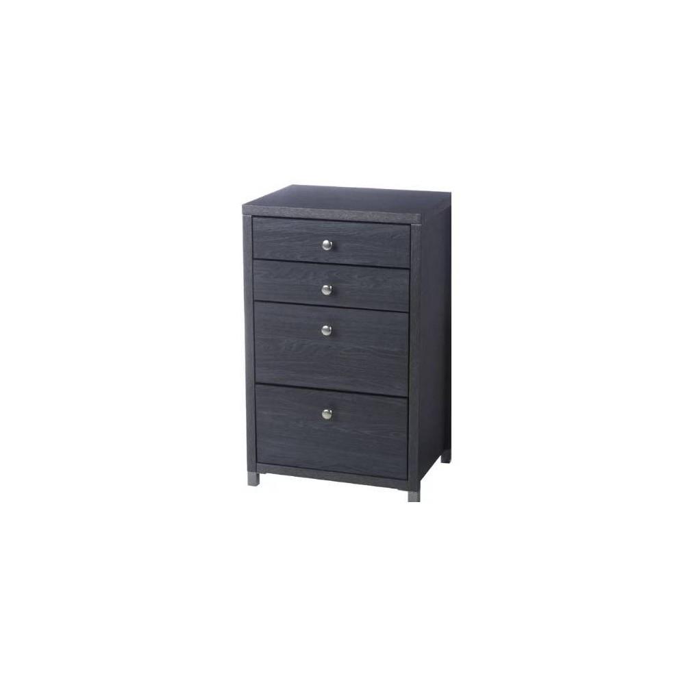4 Drawer Set Avalon Storage Cabinet Dark Gray - Neu Home