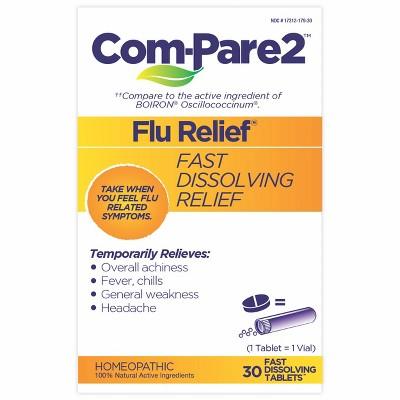 Com-Pare2 Flu Relief Dissolve Tablets - 30ct