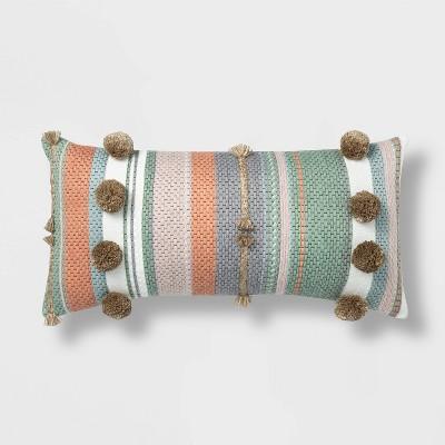 Lumbar Outdoor Throw Pillow Pink/Blue/Gray - Opalhouse™