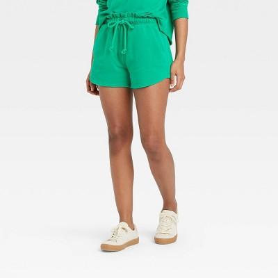 Women's High-Rise Pull-On Shorts - Universal Thread™ Green XS