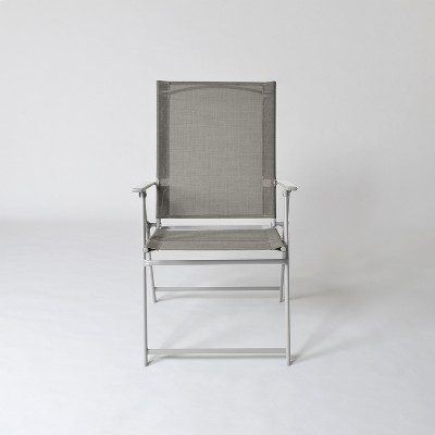 Sling Folding Patio Chair Gray - Threshold™