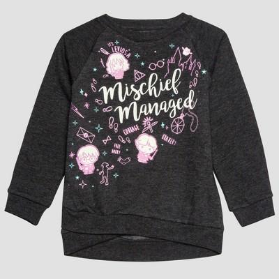 Toddler Girls' Harry Potter Sweatshirt - Gray 18M
