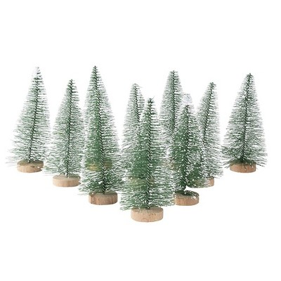 Juvale 12 Pack Mini Christmas Tree Pine Tree Table Top Decorations, Holiday Decor, 4.25 x 2 x 2 In