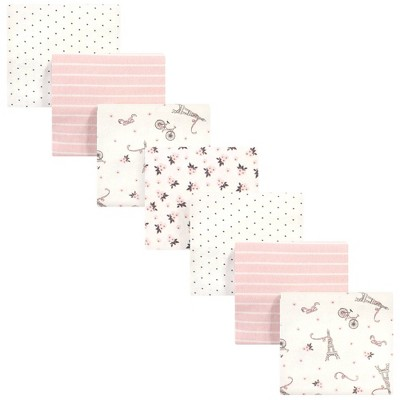 Hudson Baby Unisex Baby Cotton Flannel Receiving Blankets Bundle - Paris One Size